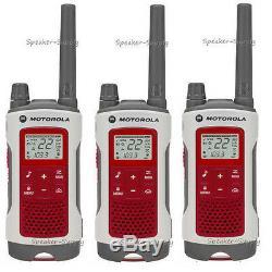 3 Motorola Talkabout T480 Talkie Walkie Set 35 Mile Two Way Fm Radio Noaa Ptt