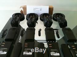 (4) Motorola Ht750 Deux Voies Radios Portables Vhf 136-174mhz 16ch Aah25kdc9aa3an