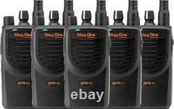 5 Pack Motorola Bpr40 Mag One Vhf 150-174mhz 8 Channel 5w Radio À Deux Voies Ni-mh