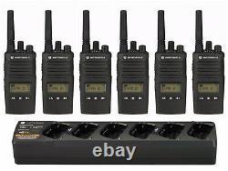 6 Motorola Rmu2080d 2 Watt Uhf Business Radios Bidirectionnelle Et Chargeur Bancaire