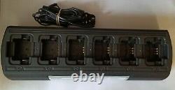 6x Motorola Digital Vhf Dp1400 Two Way Radios + Six Way Charger & Uk Psu