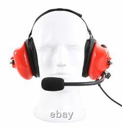 Casque De Course Rouge Pour Motorola Cp200 Cp200d Cp200xls Cp1300 Two Way Radio