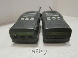 Lot De 2 Motorola Ht1250 Ls + 403-470mhz Uhf 4w Radio Two Way Aah25rdh9dp5an