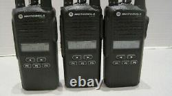 Lot De 3 Motorola Cp185 Vhf 136-174mhz 16ch Two Way Radio Aah03kef8aa7an Withbatt