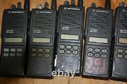 Lot Of 7 Motorola Mts2000 Modèle II Radio Portable 2 Voies H01ucf6pw1bn