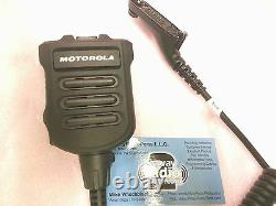 Motorola Apx7000 Apx6000 Xe Xpr7550 Impres Xp Haut-parleur À Distance Double MIC Mince Noir