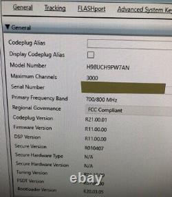 Motorola Apx 6000 700 / 800mhz P25 Two Way Radio Apx6000