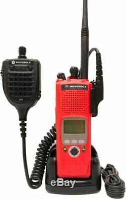 Motorola Astro Xts 5000 II Vhf Numérique P25 Radio À Deux Voies Aes Des Adp Gps MIC Rouge