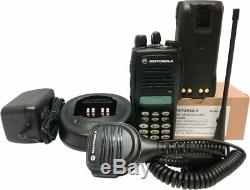 Motorola Ht1250 Uhf Radio À Deux Voies Clavier Complet MDC 1200 Quik-call II 403-470 Mhz