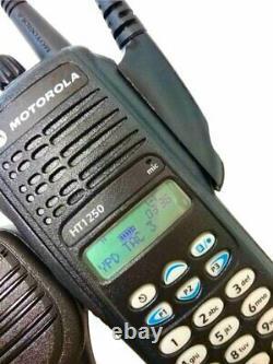 Motorola Ht1250 Vhf Two Way Radio 136-174 Mhz Police Fire Ems MDC Aah25kdh9aa6an