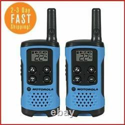 Motorola Long Range Police Two Way Radio Walkie Talkie Set 16 Mile 2 Pack Blue