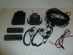 Motorola Mcs2000 Double À Distance Avec La Tête 100 403-470 Mhz Uhf Radio À Deux Voies G300