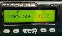 Motorola Mcs2000 Gmr À Distance 40 Watt 450-512 Mhz Uhf À Deux Voies Tuned Radio Testé