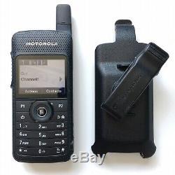 Motorola Sl7550 Uhf 403-470 Numérique Radio À Deux Voies Aah81qcn9na2an Avec Holster Bon