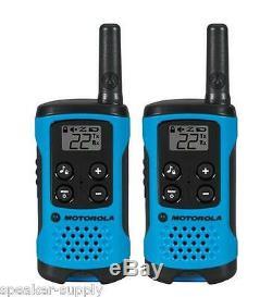 Motorola Talkabout T100 Talkie Walkie 8 Pack Combinée 16 Mile Two Way Radios Bleu