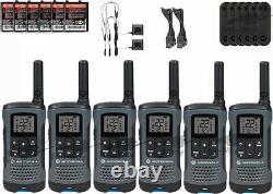Motorola Talkabout T200tp Walkie Talkie 6 Pack Set Two Way Radio Livraison Gratuite