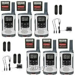 Motorola Talkabout T260tp Walkie Talkie 6 Pack Set Two Way Noaa Vox Radio Nouveau