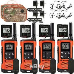 Motorola Talkabout T265 4 Pack Talkie Walkie Set 25 Mile Two Way Radio + Oreillettes