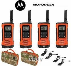 Motorola Talkabout T265 4 Pack Walkie Talkie Set 25 Mile Two Way Radio + Écouteurs