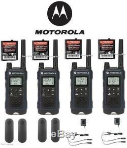 Motorola Talkabout T460 Talkie Walkie 4 Pack Set 35 Mile Two Way Radio