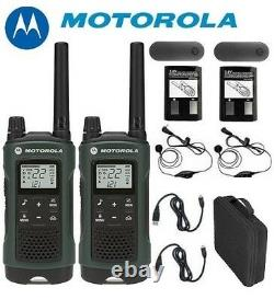 Motorola Talkabout T465 Walkie Talkie Set 35 Mile Two Way Radio (écouteurs + Case)