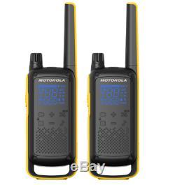 Motorola Talkabout T470 Radio Bidirectionnelle, 35 Mile, 2 Pack, Noaa, Noir Et Jaune