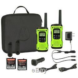 Motorola Talkabout T605 Étanche Rechargeable À Deux Voies Green Radio Pack 2