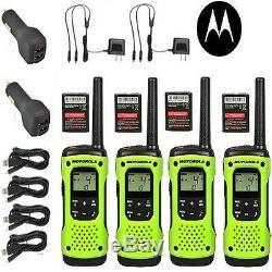 Motorola Talkabout T605 Talkie Walkie 4 Set Pack De Two Way Radio Étanche