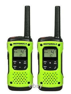 Motorola Talkabout T605 Walkie Talkie 8 Pack Set Deux Moyen Étanche Radio H2o