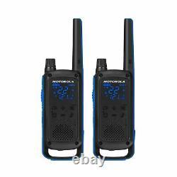 Motorola Talkabout T800 Deux-way Radios, 2 Pack, Noir / Bleu