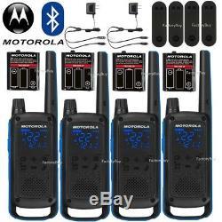 Motorola Talkabout T800 Talkie Walkie 4 Pack Set 35 Mile Two Way App Bluetooth