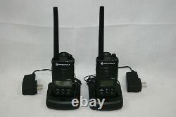 Nouveau Motorola Rdm2080d Murs Vhf Radio De Poche À Deux Voies Avec Chargeur, Batterie