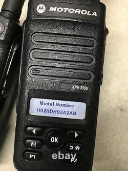 Qty 6 Motorola Mototrbo Xpr3500 Uhf Aah02rdh9ja2an Radios À Deux Sens