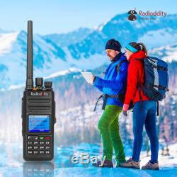 Radioddity Gd-55 Plus Dmr Ip67 2800mah 10w Uhf Radio À Deux Voies + Câble + Haut-parleur