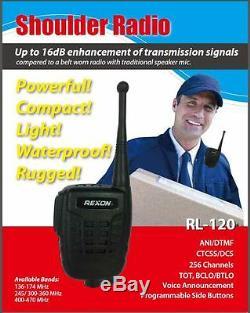 Rexon Sans Fil À Deux Voies Épaule Radio Talkie-walkie Rl-120