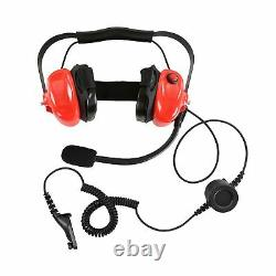 Rouge Racing Casque Pour Motorola Mototrbo Xpr7550 Xpr7350 Two Way Radio