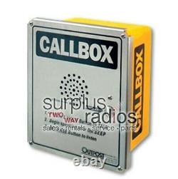 Uhf Ritron Heavy Duty Wireless Two Way Radio Callbox Fonctionne Avec Motorola Cp200