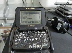 Vintage Skytel Motorola Timeport Noir P935 Téléavertisseur Bidirectionnel De Travail Pagewriter 2wp